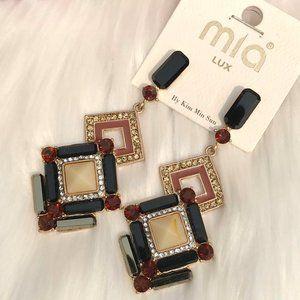 Boho Earrings Mixed Crystal Rhinestone Drop Posts
